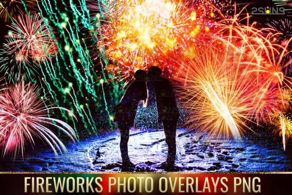 Holiday Fireworks Overlays Png Photoshop Graphic Layer Styles By 2SUNSoverlays