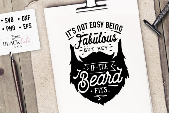 Fabulous Beard SVG Graphic Crafts By BlackCatsMedia