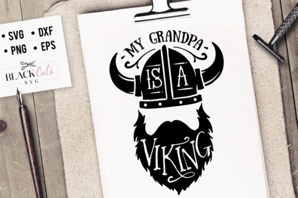 Download Free My Grandpa Is A Viking Svg Graphic By Blackcatsmedia Creative for Cricut Explore, Silhouette and other cutting machines.