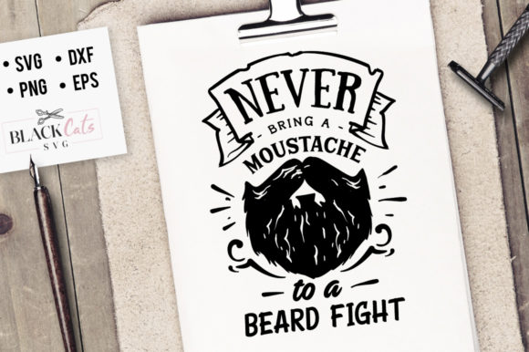 Never Bring a Mustache SVG Graphic Crafts By BlackCatsMedia