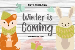 Download Free Winter Is Coming Font By Typestory Creative Fabrica for Cricut Explore, Silhouette and other cutting machines.