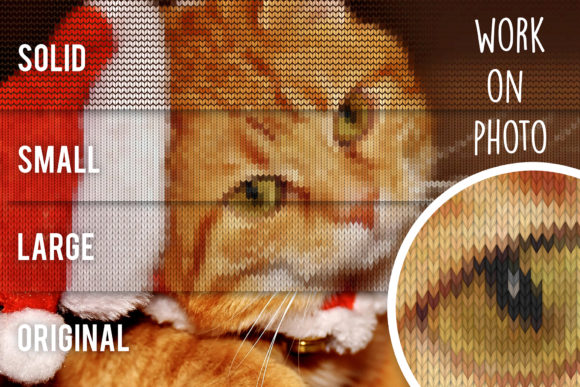 Print on Demand: Knitted Effect Ugly Christmas Sweater Graphic Actions & Presets By svgsupply - Image 8