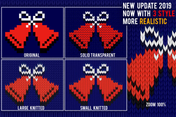 Print on Demand: Knitted Effect Ugly Christmas Sweater Graphic Actions & Presets By svgsupply - Image 10