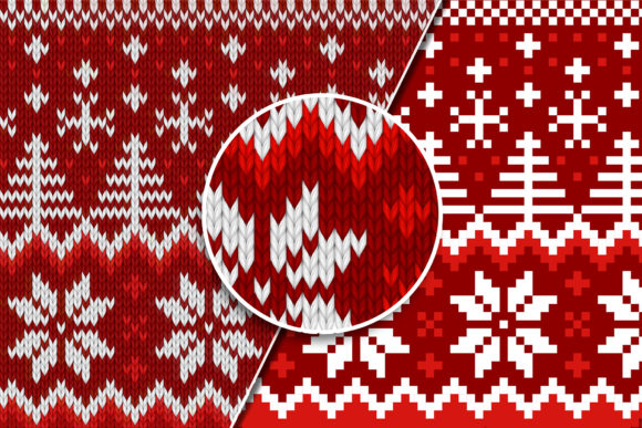 Print on Demand: Knitted Effect Ugly Christmas Sweater Graphic Actions & Presets By svgsupply - Image 2