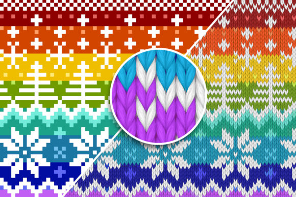 Print on Demand: Knitted Effect Ugly Christmas Sweater Graphic Actions & Presets By svgsupply - Image 3