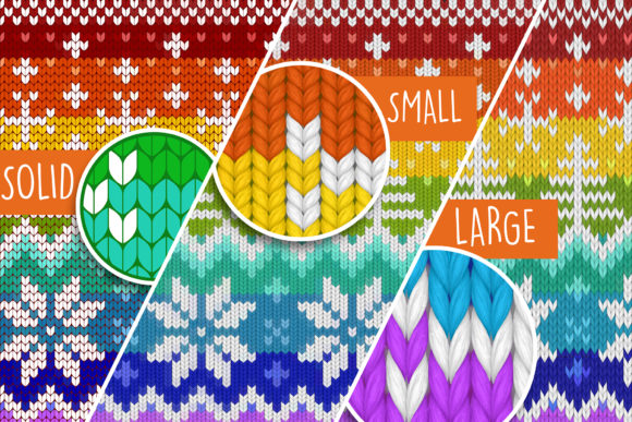 Print on Demand: Knitted Effect Ugly Christmas Sweater Graphic Actions & Presets By svgsupply - Image 4