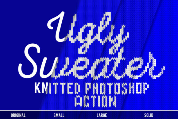 Print on Demand: Knitted Effect Ugly Christmas Sweater Graphic Actions & Presets By svgsupply - Image 5