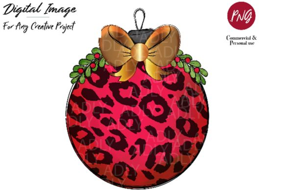 Red Gold Christmas Ornament Ball Design Graphic By adlydigital Image 1