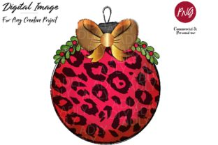 Red Gold Christmas Ornament Ball Design Graphic By adlydigital