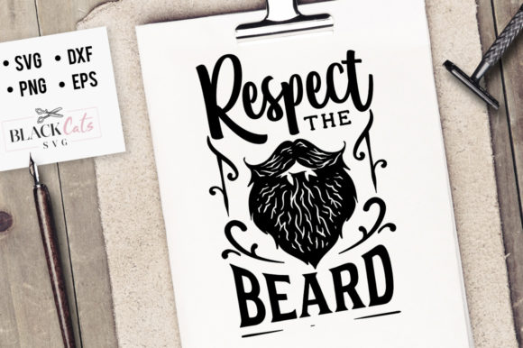 Download Free Respect The Beard Svg Graphic By Blackcatsmedia Creative Fabrica for Cricut Explore, Silhouette and other cutting machines.
