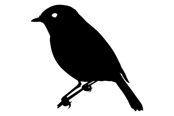Download Free Robin Bird Silhouette Graphic By Idrawsilhouettes Creative Fabrica for Cricut Explore, Silhouette and other cutting machines.