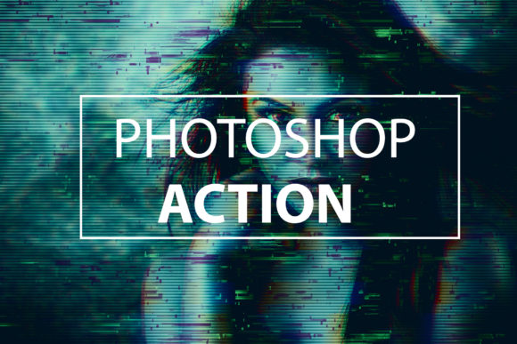 Download Free Glitch Distruction Photoshop Action Graphic By Itraitart SVG Cut Files