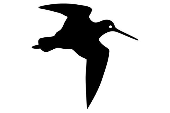 Download Free Snipe Bird Silhouette Graphic By Idrawsilhouettes Creative Fabrica for Cricut Explore, Silhouette and other cutting machines.