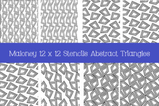 Print on Demand: Stencils Abstract Triangles 12 X 12 in Graphic Patterns By Kathryn Maloney 1