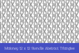Print on Demand: Stencils Abstract Triangles 12 X 12 in Graphic Patterns By Kathryn Maloney 2