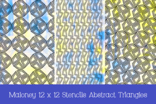 Print on Demand: Stencils Abstract Triangles 12 X 12 in Graphic Patterns By Kathryn Maloney 3