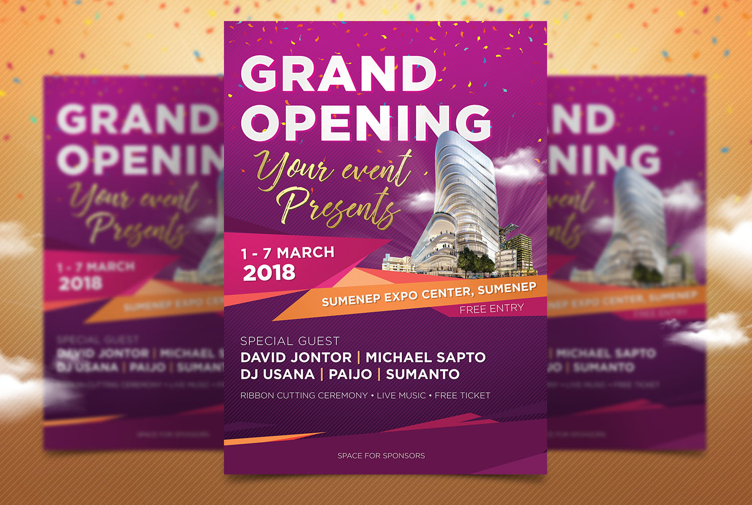 Download Free Grand Opening Multipurposes Poster Graphic By Tomatstudio for Cricut Explore, Silhouette and other cutting machines.