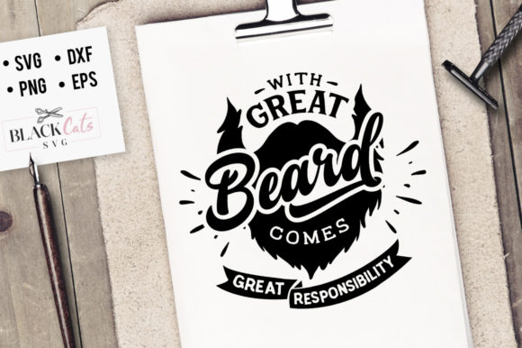 Download Free With Great Beard Comes Great Svg Graphic By Blackcatsmedia for Cricut Explore, Silhouette and other cutting machines.