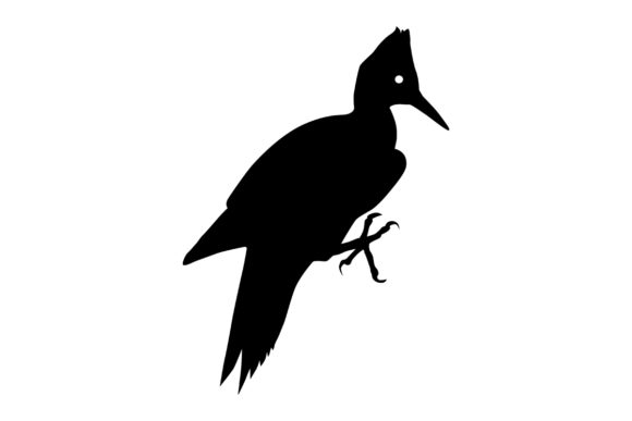 Download Free Woodpecker Bird Silhouette Graphic By Idrawsilhouettes for Cricut Explore, Silhouette and other cutting machines.