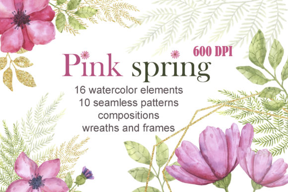 Pink Spring Graphic Illustrations By Mari_artchef