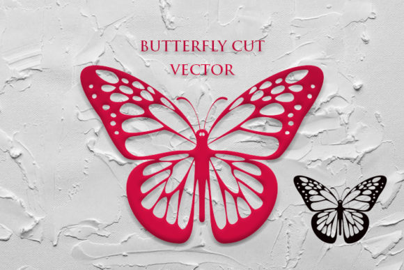 Print on Demand: BUTTERFLY  - VECTOR CUT Graphic Crafts By Cititype - Image 1