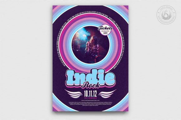 Indie Rock Flyer Template V5 Graphic By ThatsDesignStore