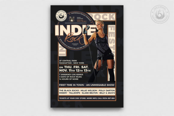 Indie Rock Flyer Template V6 Graphic By ThatsDesignStore