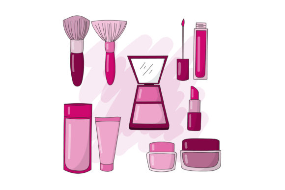 Print on Demand: Makeup Design and Beauty Tools Graphic Graphic Templates By sabavector