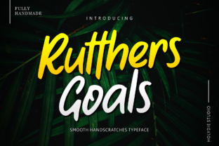 Print on Demand: Rutthers Goals Display Font By Holydie Studio