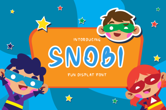 Print on Demand: Snobi Display Font By RantauType