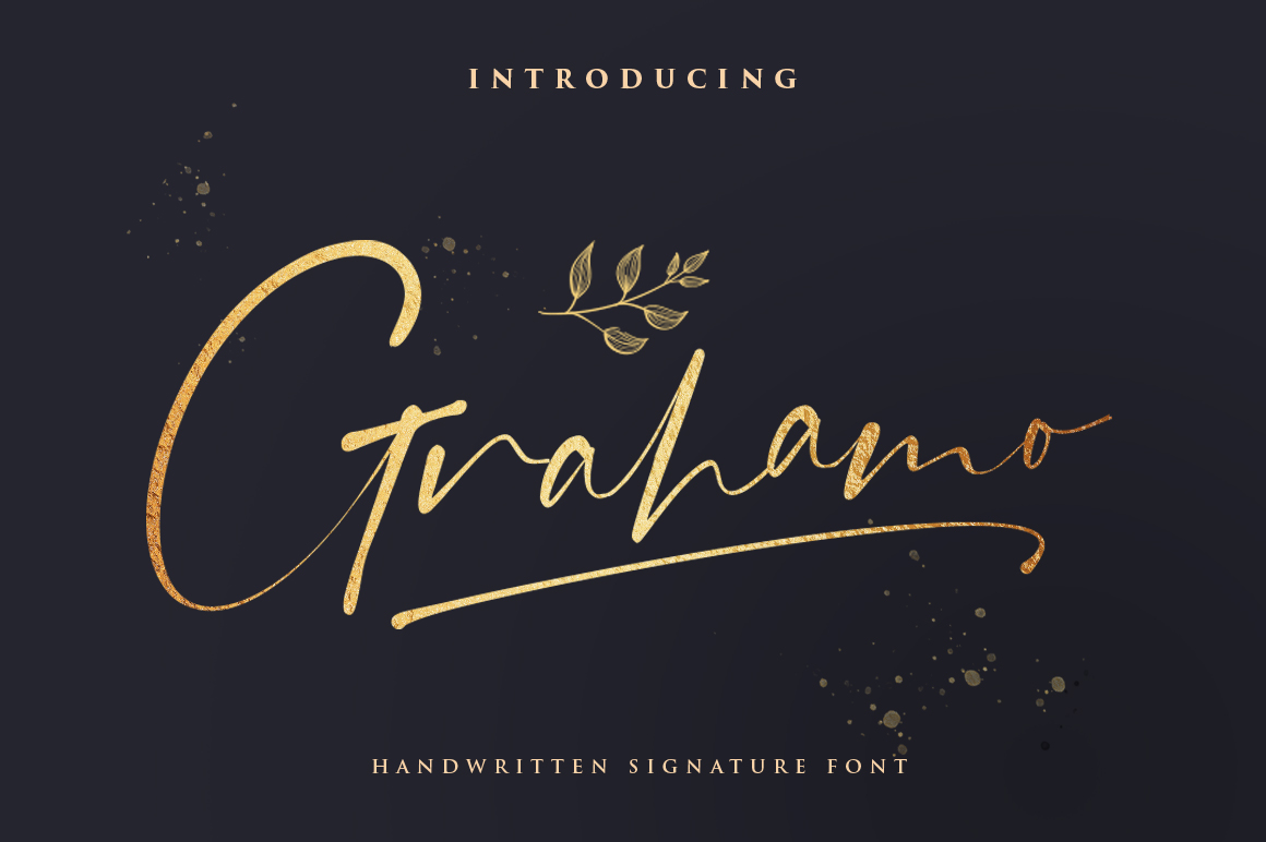 Download Free Grahamo Font By Vultype Creative Fabrica for Cricut Explore, Silhouette and other cutting machines.
