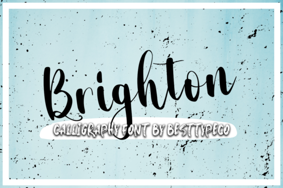 Print on Demand: The Brighton Script & Handwritten Font By besttypeco
