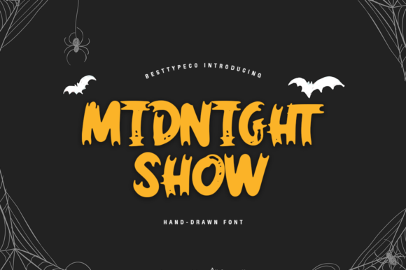 Midnight Show Font Image