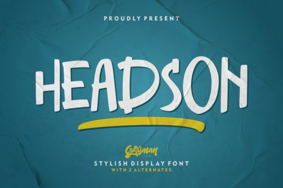 Print on Demand: Headson Display Font By Garisman Studio