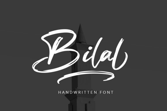 Print on Demand: Bilal Script & Handwritten Font By Arendxstudio