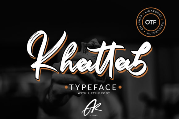 Print on Demand: Khattab Script & Handwritten Font By Arendxstudio - Image 1