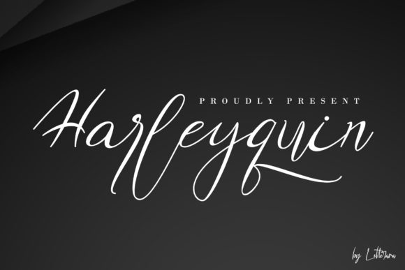 Print on Demand: Harleyquin Script & Handwritten Font By thomasaradea