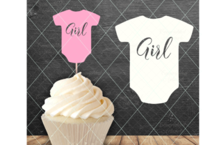 Download Free Baby Girl Baby Girl Cake Topper Graphic By Thelovebyrds for Cricut Explore, Silhouette and other cutting machines.