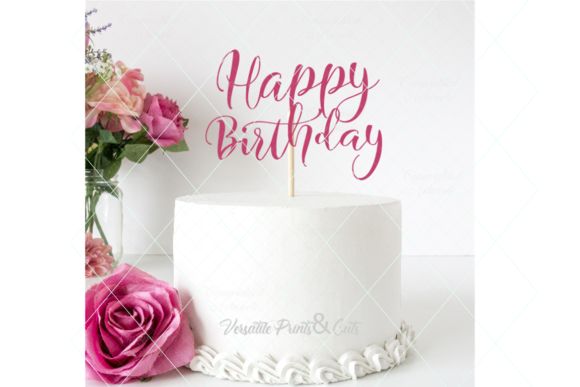 Download Free Happy Birthday Birthday Cut File Graphic By Thelovebyrds SVG Cut Files