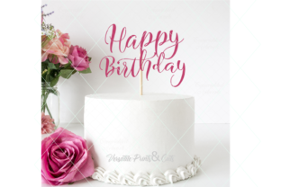 Download Free Happy Birthday Birthday Cut File Graphic By Thelovebyrds for Cricut Explore, Silhouette and other cutting machines.