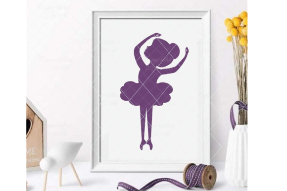 Download Free Ballerina Little Ballerina Grafico Por Thelovebyrds Creative for Cricut Explore, Silhouette and other cutting machines.