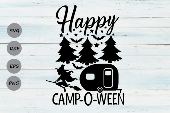 Print on Demand: Happy Campoween. Graphic Crafts By CosmosFineArt