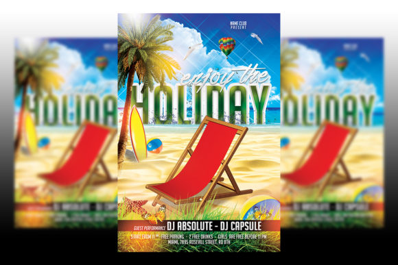Print on Demand: Summer Holiday Graphic Print Templates By Matthew Design