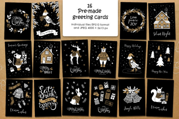Print on Demand: Christmas Vector Graphic Set Graphic Illustrations By Nata Art Graphic - Image 12