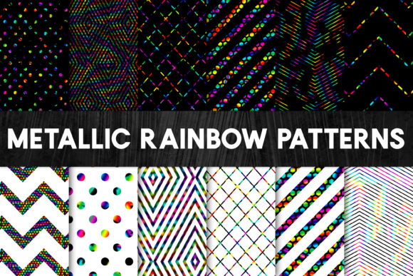 Print on Demand: Metallic Rainbow Foil Patterns - Stylish Graphic Patterns By illuztrate