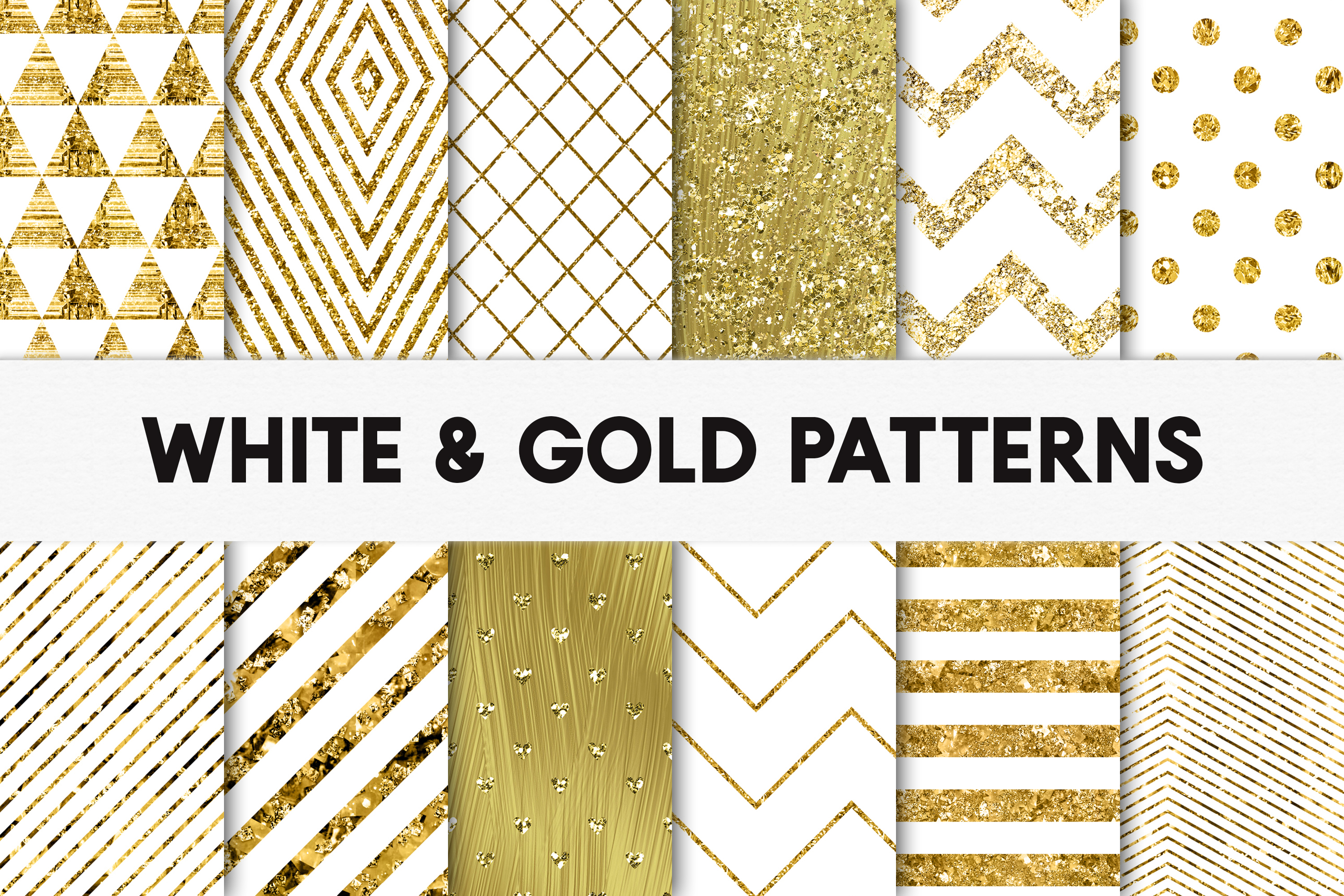 Download Free White And Gold Foil Patterns Stylish Graphic By Illuztrate for Cricut Explore, Silhouette and other cutting machines.