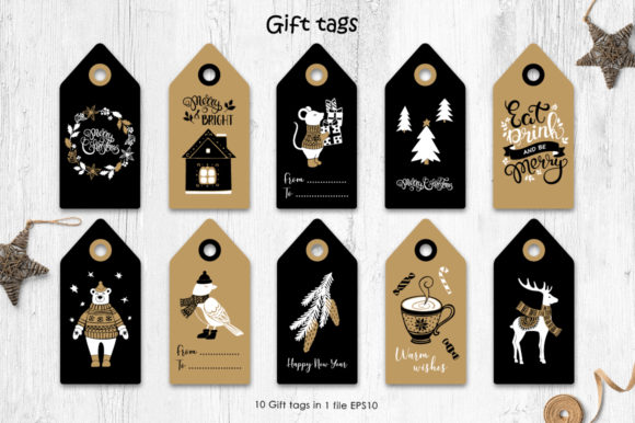 Print on Demand: Christmas Vector Graphic Set Graphic Illustrations By Nata Art Graphic - Image 13