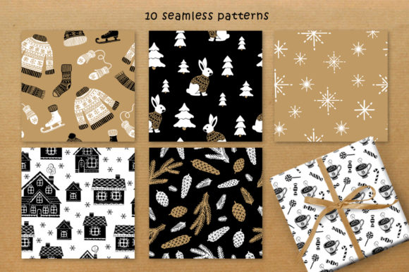 Print on Demand: Christmas Vector Graphic Set Graphic Illustrations By Nata Art Graphic - Image 15