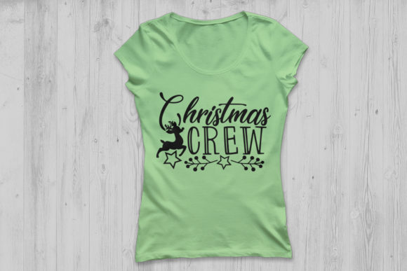 Download Free Christmas Crew Graphic By Cosmosfineart Creative Fabrica for Cricut Explore, Silhouette and other cutting machines.