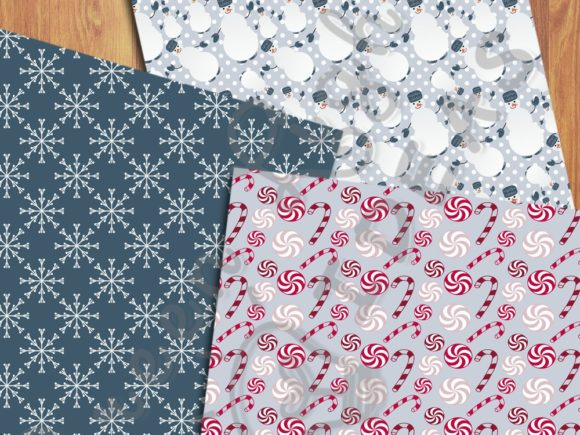 Christmas Holidays Scrabooking Papers Graphic Backgrounds By GreenLightIdeas - Image 2